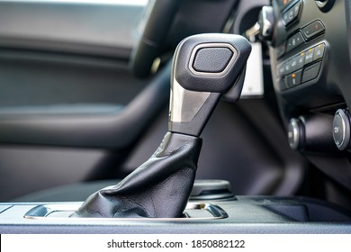 Automatic Shifter in a brand new car interior