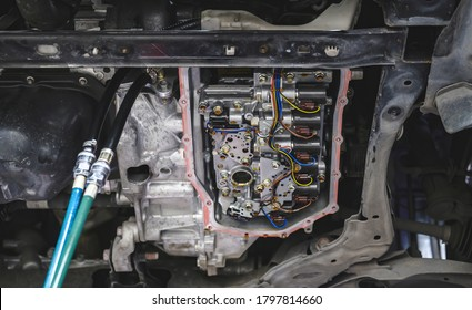 Automatic Transmission After Oil Pan Removal For Change Automatic Transmission Fluid and Filter.