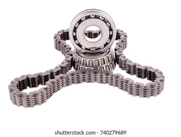 Automatic transmission automotive roller bearings, gears and drive belt