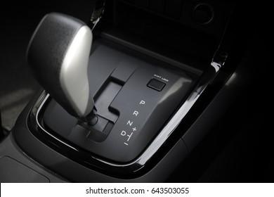 automatic transmission gear of car , car interior