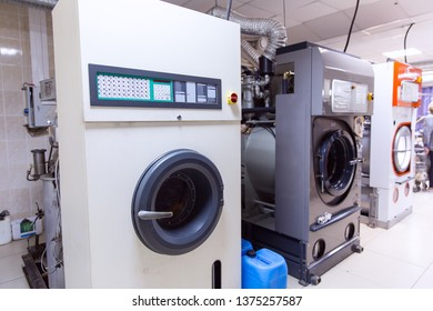 Automatic washing machines at laundry service