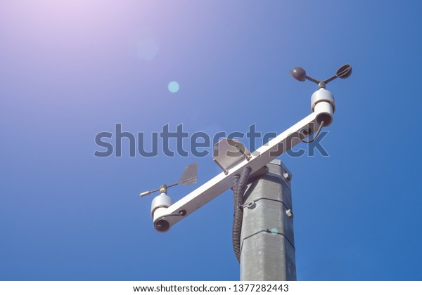 Automatic weather station, anemometer and wind vane