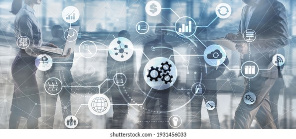 Automation Process 2021. System Business concept