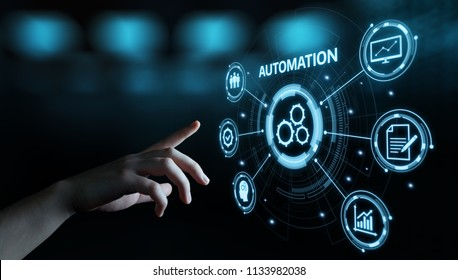 Automation Software Technology Process System Business Konzept.