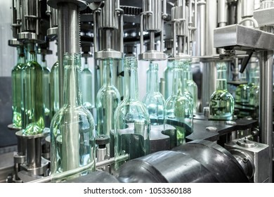 Automation for wine bottling.