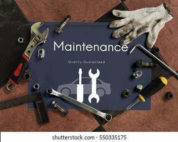 Automobile Car Mechanic Service Maintenance Concept