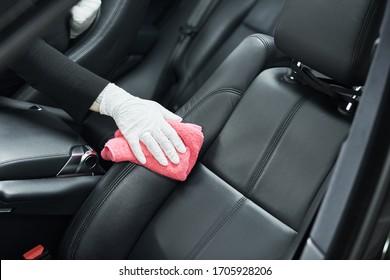 servicio de detalle de automóviles. Limpieza interior del Camión