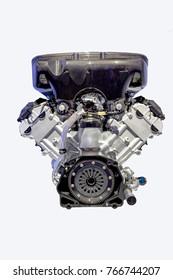 Automobile engine Isolated on white background