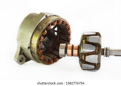 Automobile generator. Stator and rotor. Spare components