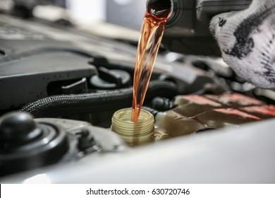 Automobile maintenance / engine oil, coolant exchange