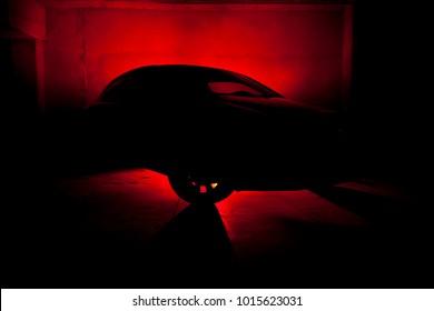 Automobile Silhouette Red