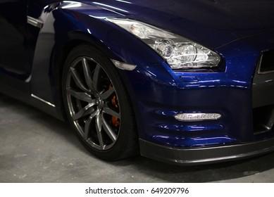 automotive backround - nissan GT-R