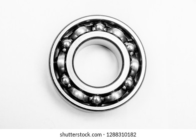 automotive bearings, roller bearing isolated on a white background.