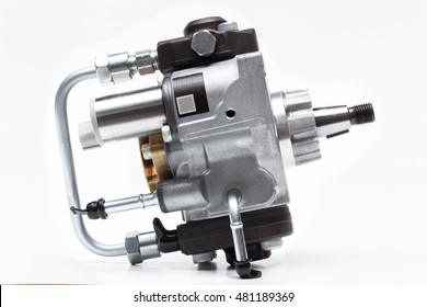 automotive fuel injection pump for diesel engines on a white background