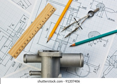 automotive parts and drawing