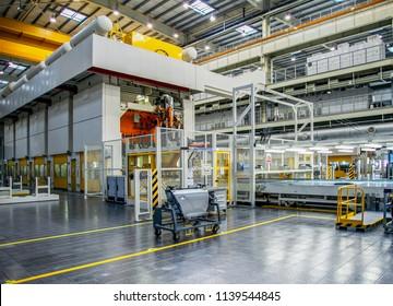 Automotive production press shop scene