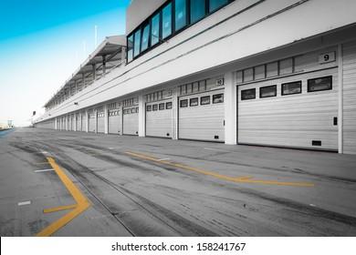auto-motor racetrack pit stop