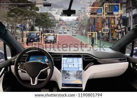 Autonomous car with HUD