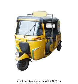 the autorickshaw isolated on white background