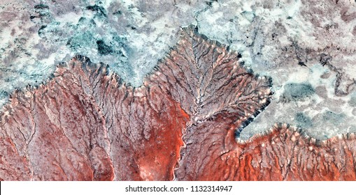 autumn, allegory,tribute to Pollock, abstract photography of the deserts of Africa from the air, aerial view, abstract expressionism, contemporary photographic art,