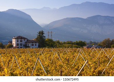 Autumn in Alps of Trentino-Alto Adige, Italy