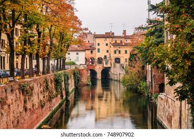 Autumn atmosphere on river Rio, Mantua, Italy
