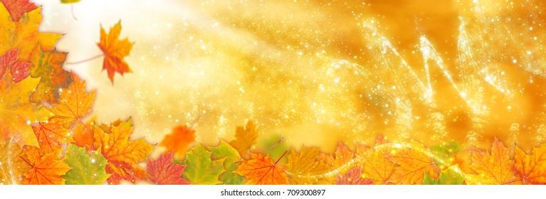 Autumn background, Golden autumn as banner