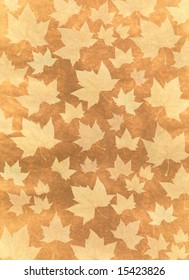 Autumn background illustration made with  platanus leaves