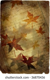 Autumn background in retro style