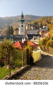autumn in Banska Stiavnica, Old Castle, Slovakia UNESCO