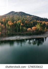 Autumn at Bass lake in California, USA
