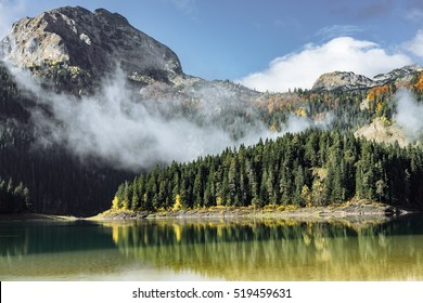 Autumn Black Lake, Durmitor National Park, Zabljak, Montenegro