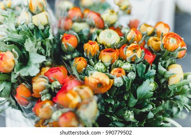 autumn bouquet of flowers