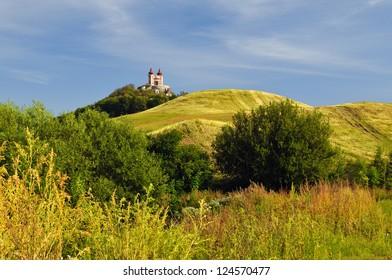 Autumn Calvary in Banska Stiavnica, Slovakia Unesco