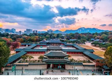 autumn at changgyeonggung palace seoul korea