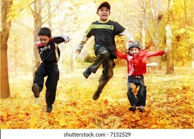 Autumn children's games