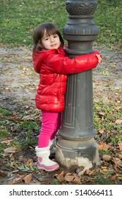 autumn children's games in the park
