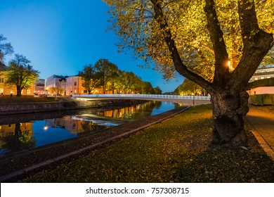 Autumn in the city of Turku, Finland