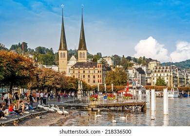 Autumn cityscape of Lucerne, Switzerland