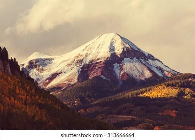 Autumn in Colorado mountains