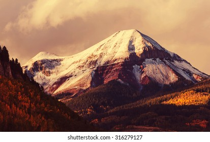 Autumn in Colorado mountains