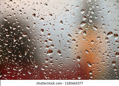 Autumn colors background with rain drops