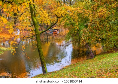 Autumn colors in central public domain park, Europa
