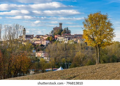 Autumn colors in the countryside of Trisobbio, little village of Piedmont