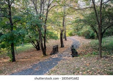 Autumn colors in Kardzhali Prostor city park - Shutterstock ID 1835691682