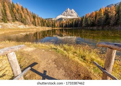 Autumn colors at the lake of Atorno