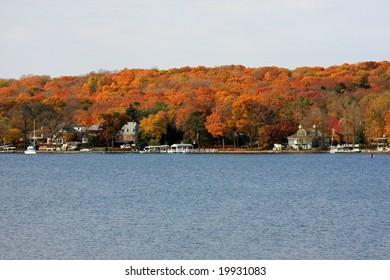 Autumn colors at Lake Geneva, Wisconsin