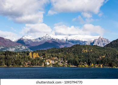 Autumn Colors in Nahuel Huapi lake, Patagonia - Argentina, near Bariloche