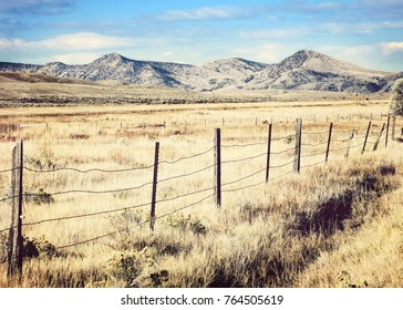 autumn colors on Rural grasslands, Colorado, United States