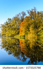 Autumn colors reflected in the water